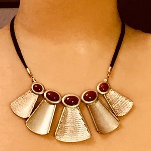 Vintage Liz Claiborne red necklace